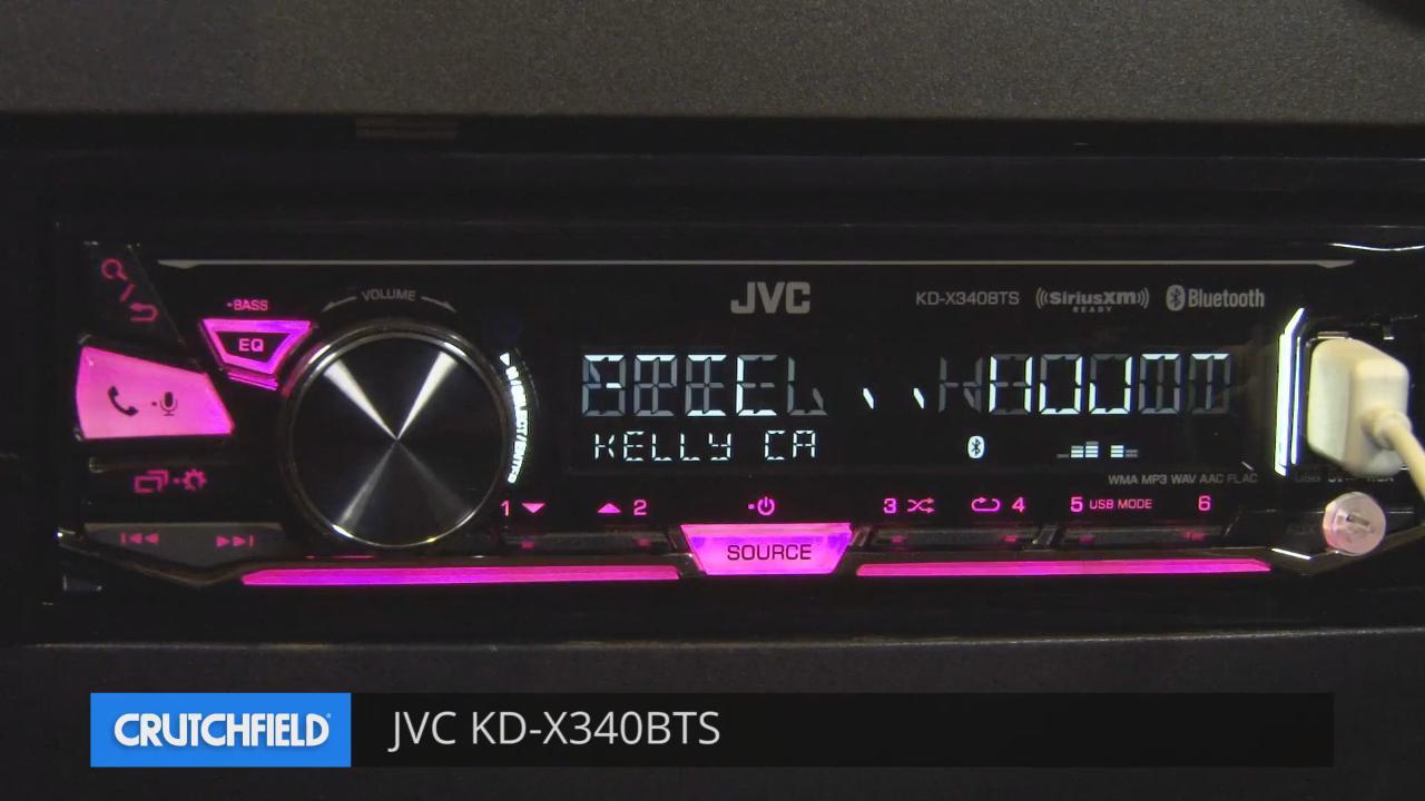 low priced 30e5d 061aa JVC KD-X340BTS Digital media receiver (does not play CDs) at Crutchfield.com