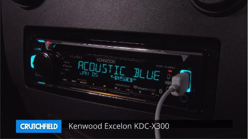 Kenwood Excelon KDC-X300 CD receiver at Crutchfield on