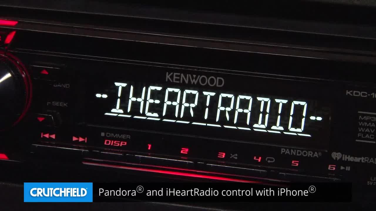 kenwood kdc 168u cd receiver at crutchfield com