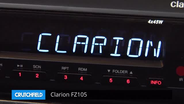 Clarion FZ105 Digital media receiver (does not play CDs) at