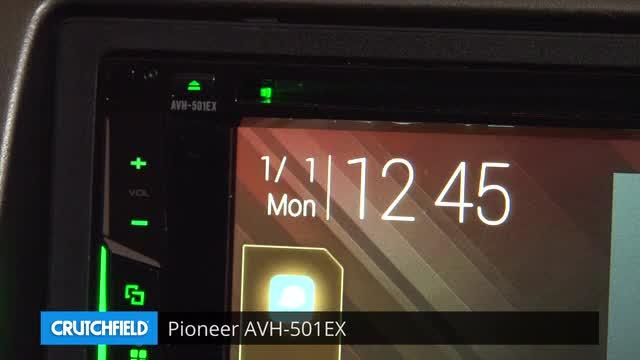 Pioneer AVH-501EX DVD receiver at Crutchfield